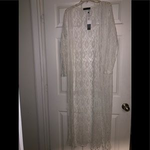 Off whatever lace duster long cardigan 14 L Zanzea